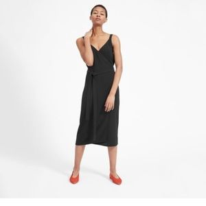 Everlane goweave Black Wrap Dress